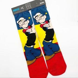 Odd Sox Popeye the Sailor Man Crew Socks Size 6-13